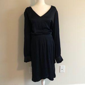 NWT Black Long Sleeve Defined Waist Dress